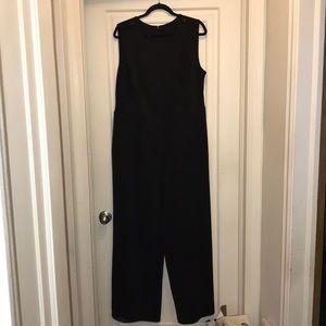 Lane Bryant Black scuba wide leg jumpsuit